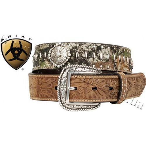 Ariat Reload Silver Buckle Leather Belt Mossy Oak® Break-Up®