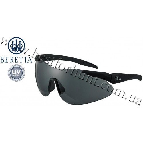 Beretta® Performance Soft Touch Plastic Frame Shooting Shields OCA1 Black