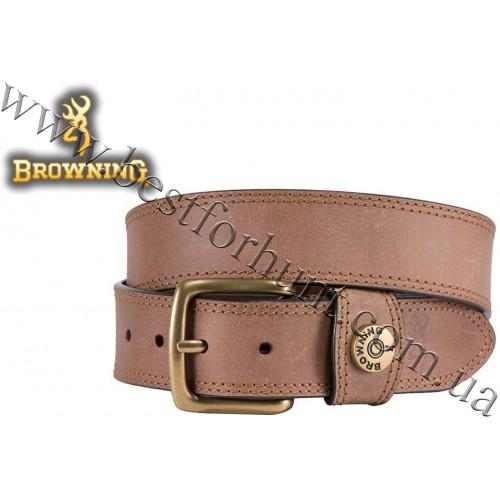 Browning® Leather Slug Belt Brown