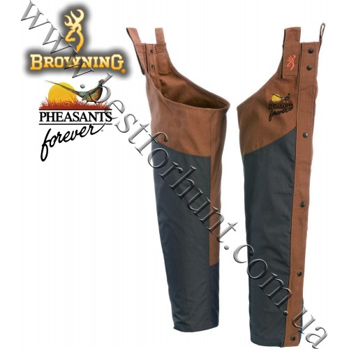 Browning® Pheasants Forever® Embroidered Logo Upland Chaps Field Tan
