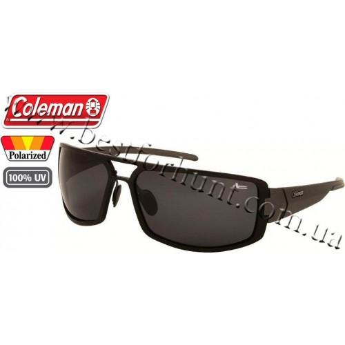 Coleman® Aluminum Polarized Sunglasses Gunmetal Frame Smoke Lens CC2 6513-C1