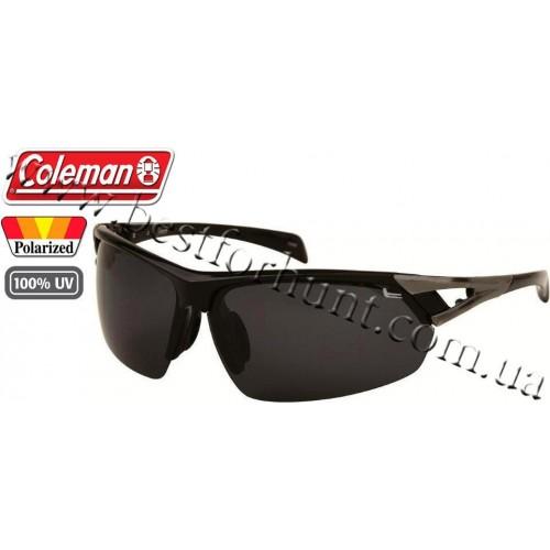 Coleman® TR90 Sport™ Polarized Sunglasses Black Frame Smoke Lens CC2 6502-C1