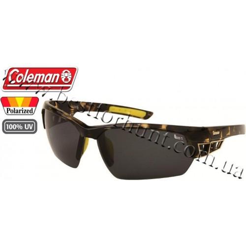 Coleman® TR90 Sport™ Polarized Sunglasses Tortoise Shell Pattern Brown Frame Brown Lens CC2 6506-C2