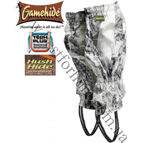 Gamehide® Hush Hide® Waterproof Gaiters Naked North® Snow Camo