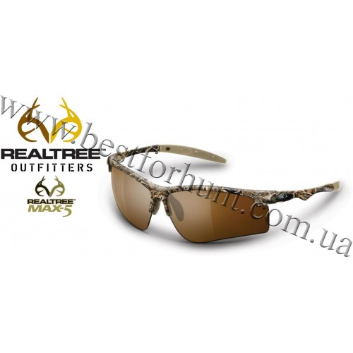 Realtree Outfitters® Drop Tine Polarized Sunglasses Realtree MAX-5®-Brown