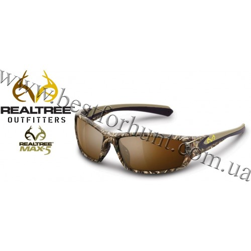 Realtree Outfitters® Ridgeline Polarized Sunglasses Realtree MAX-5®-Brown