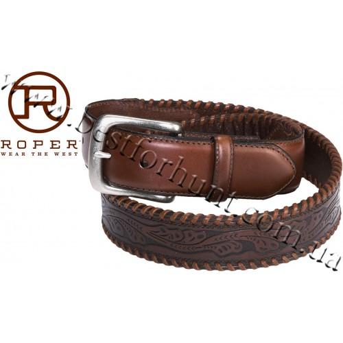 Roper® Leather Belt Brown