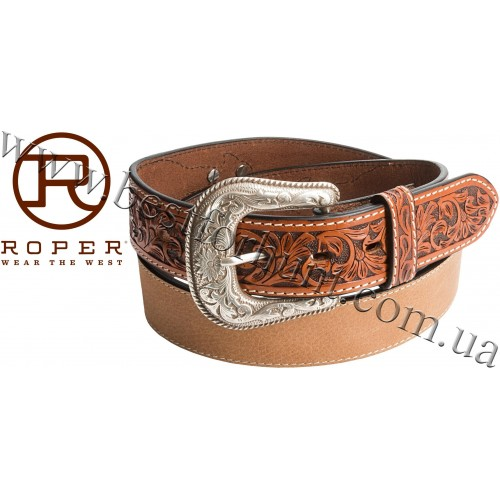 Roper® Pebble-Grain Leather Belt Tan