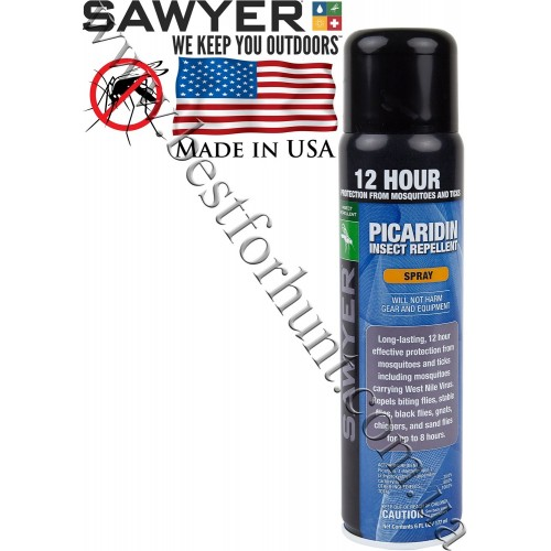 Sawyer® Picaridin Insect Repellent for Clothing and Gear Mild Citrus Aerosol Spray
