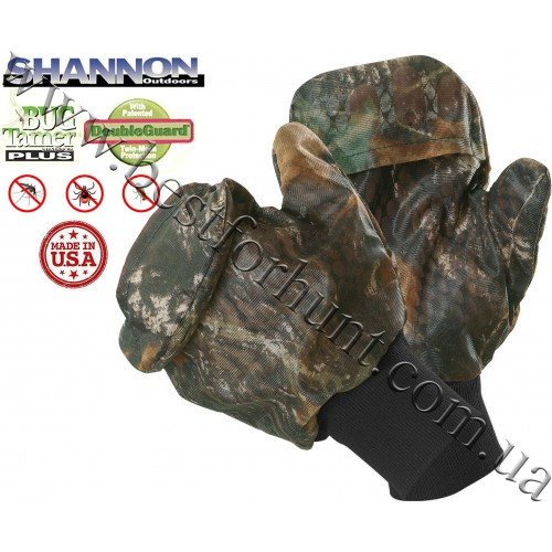 Shannon Outdoors® Classic Double Guard Bug Tamer® Plus Mitts Mossy Oak® Break-Up®