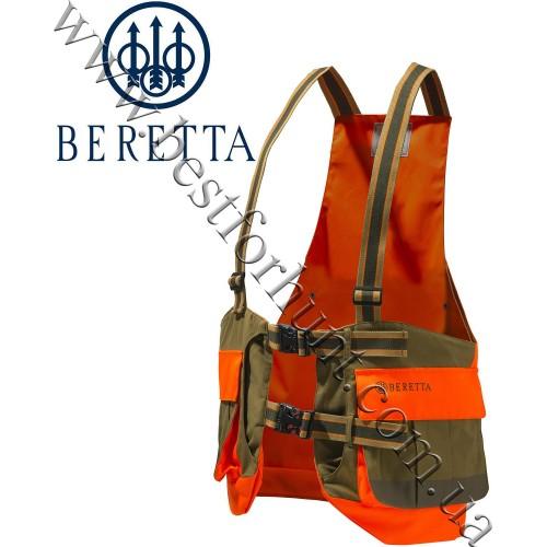 Beretta® Covey Strap Hunting Vest GU124 Tobacco & Orange
