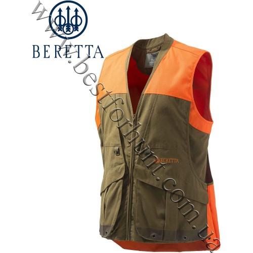 Beretta® Retriever Field Vest GU563 Tobacco and Blaze Orange