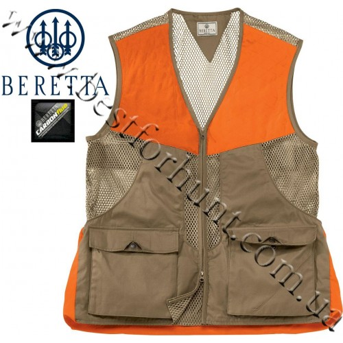 Beretta® Upland Front-Loading Cotton and Mesh Vest Tan