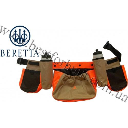 Beretta® Upland Quail And Dove Caddy Belt Brown-Blaze Orange