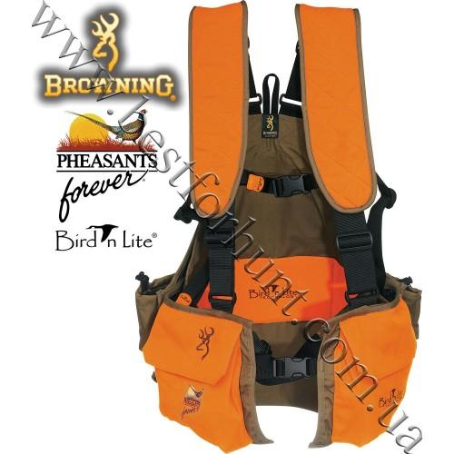 Browning® Bird'n Lite® Pheasants Forever® Strap Vest Khaki-Blaze