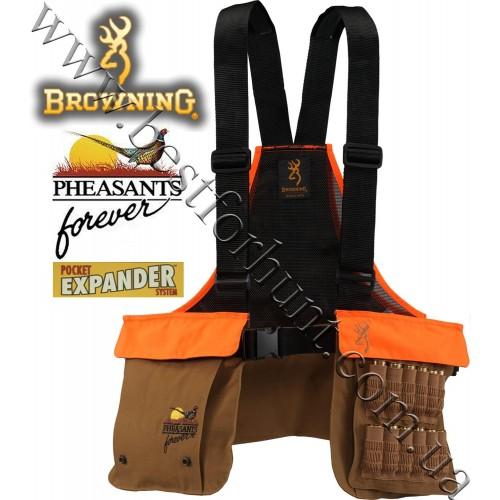 Browning® Pheasants Forever® Strap Vest Khaki-Blaze