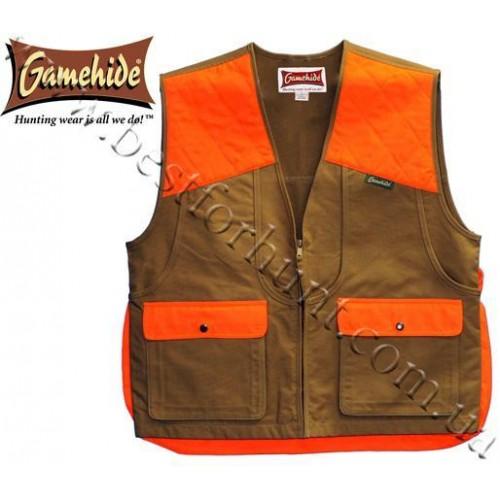 GameHide® Briar-Proof Upland Vest Marsh Brown Orange