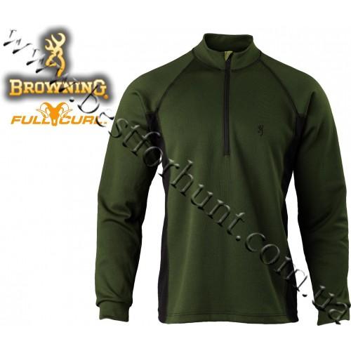 Browning® Full Curl™ Wool Base Layer 1/4 Zip Shirt Loden
