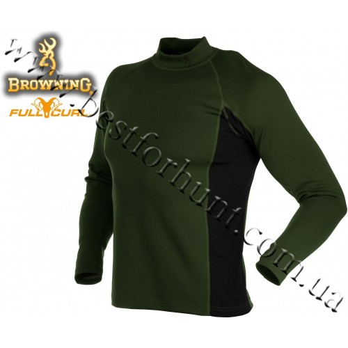 Browning® Full Curl™ Wool Base Layer Mock Neck Shirt Loden