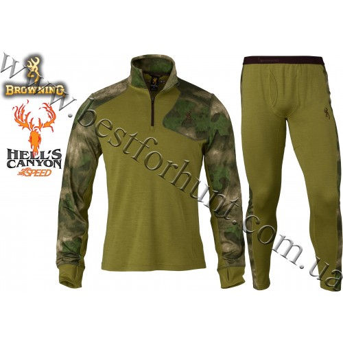 Browning® Hell's Canyon™ Speed MHS Hunting Base Layer Set A-TACS FG Camo™