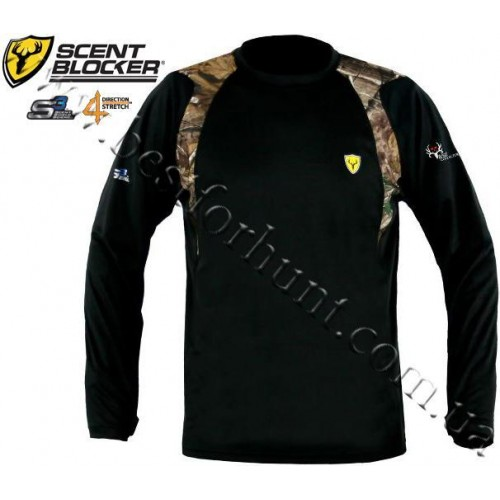 Scent Shield® Bone Collector™ Base Layer S3™ Bamboo Long-Sleeve Tee Realtree AP®