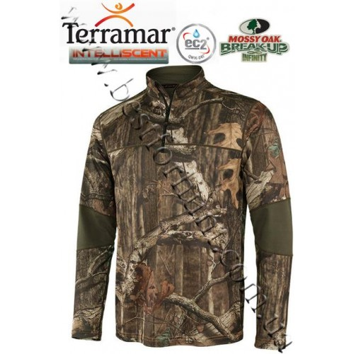 Terramar 3.0 Stalker INTELLISCENT™ Tracker Zip Neck Pullover Mossy Oak® Break-Up® Infinity™