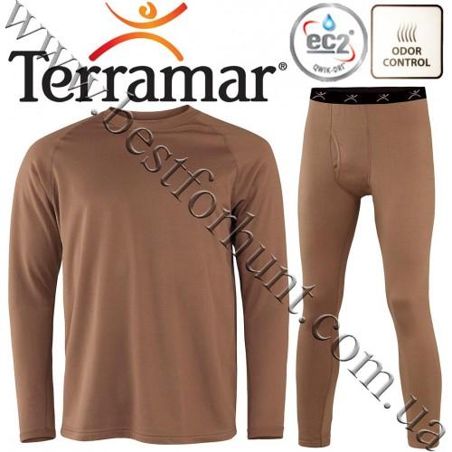 Terramar® Military Fleece Thermal Base Layer Set Brown