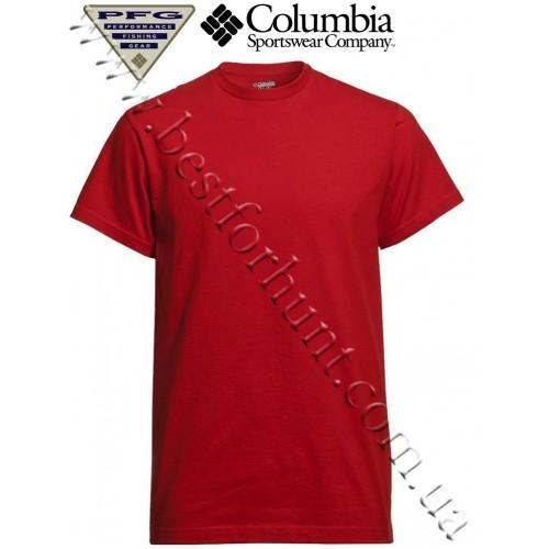 Columbia® PFG Lake Slam Short Sleeve T-Shirt Sail Red