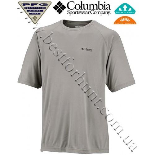 Columbia® PFG Terminal Tackle™ Short Sleeve UPF 50 T-Shirt Cool Grey Bass