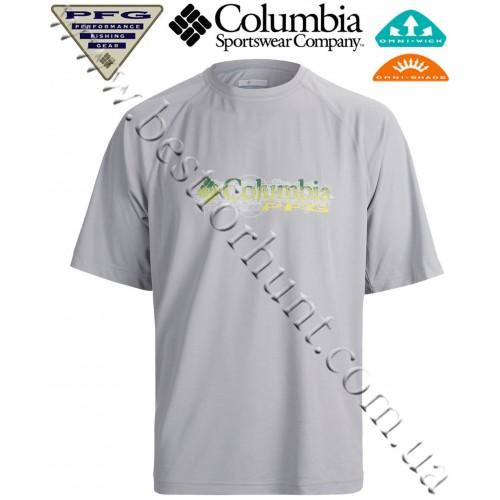 Columbia® PFG Terminal Tackle™ Short Sleeve UPF 50 T-Shirt Cool Grey Logo