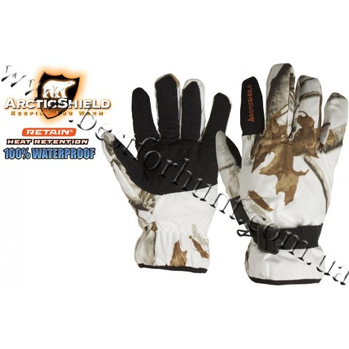ArcticShield® Camp Gloves with Retain™ Technology Realtree Hardwoods® Snow®