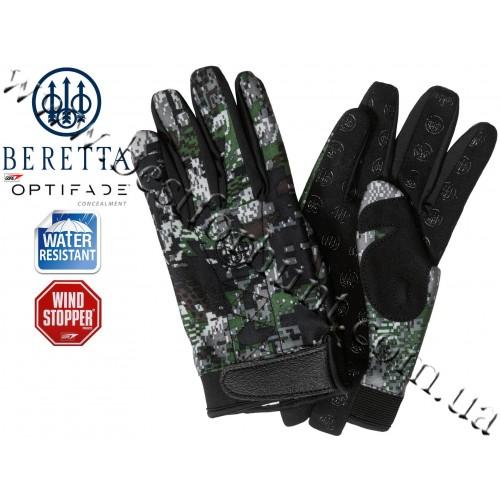 Beretta® DWS Plus™ Windstopper® Gloves GL60 GORE™ OPTIFADE™ Concealment in Forest