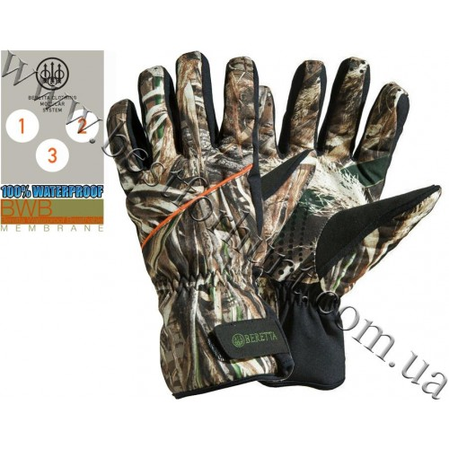 Beretta® Waterfowler Padded Gloves Realtree MAX-5®