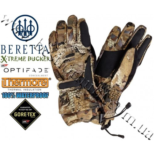 Beretta® Xtreme Ducker™ Waterproof Insulated Thermo Gloves GL61 GORE™ OPTIFADE™ Concealment Waterfowl Marsh