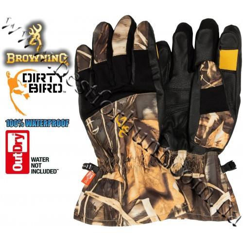 Browning® Dirty Bird™ OutDry® Waterproof Gunners Gloves Realtree MAX-4®