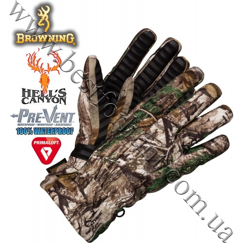 Browning® Hell's Canyon™ BTU PrimaLoft® Insulated Glove Realtree Xtra®
