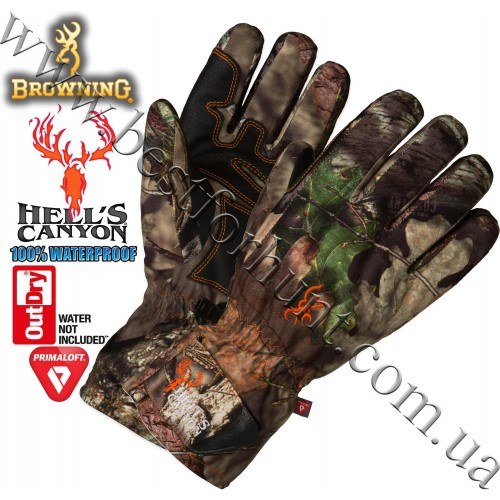 Browning® Hell's Canyon™ OutDry® Waterproof PrimaLoft® Insulated Gloves Mossy Oak® Break-Up® COUNTRY™