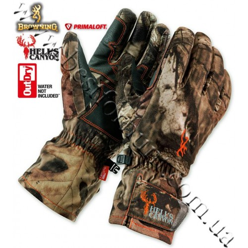 Browning® Hell's Canyon™ OutDry® Waterproof PrimaLoft® Insulated Gloves Mossy Oak® Break-Up® Infinity™