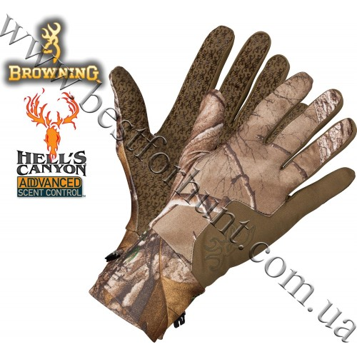 Browning® Hell's Canyon™ Riser Liner Glove Realtree Xtra®