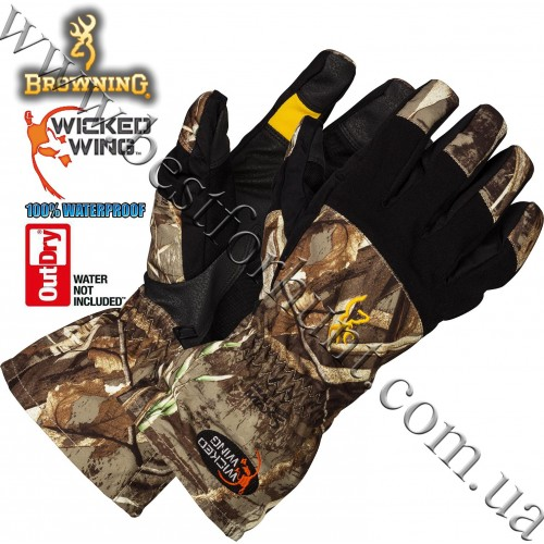 Browning® Wicked Wing™ OutDry® Waterproof Gunners Gloves Realtree MAX-5®