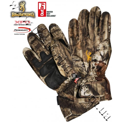 Browning® XPO™ Big Game OutDry® Waterproof Insulated Gloves Mossy Oak® Break-Up® Infinity™
