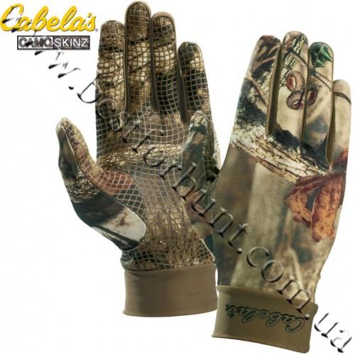 Cabela's Camoskinz™ II Unlined Gripper-Dot Gloves Mossy Oak® Break-Up® Infinity™