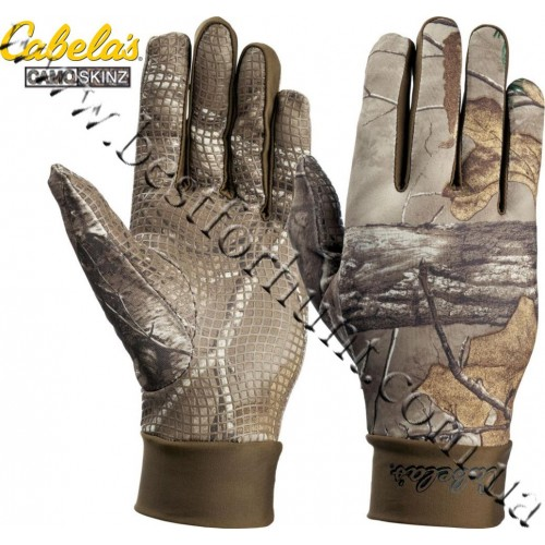Cabela's Camoskinz™ II Unlined Gripper-Dot Gloves Realtree Xtra®