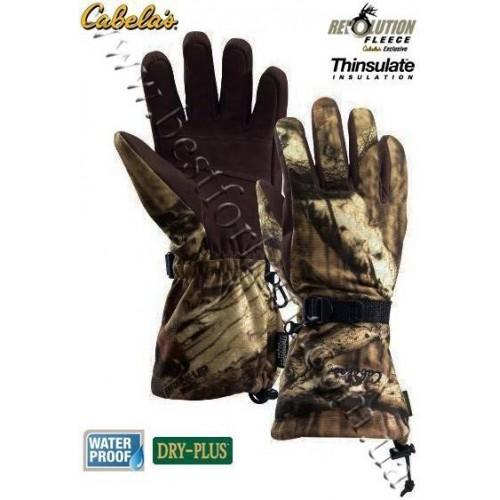 Cabela's Dry-Plus® Revolution™ Fleece Xtreme Gauntlet Gloves Mossy Oak® Break-Up® Infinity™