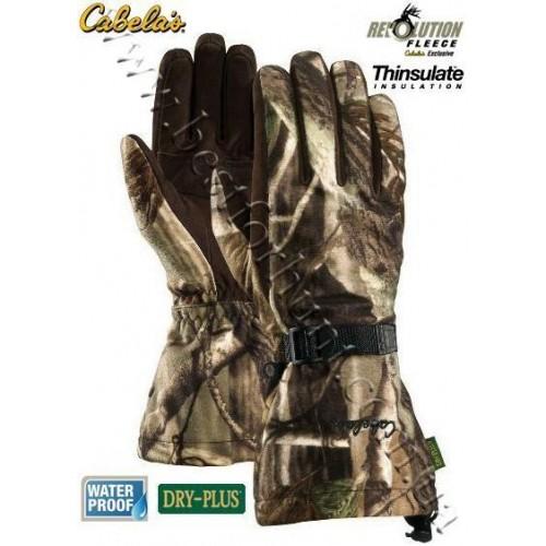 Cabela's Dry-Plus® Revolution™ Fleece Xtreme Gauntlet Gloves Realtree AP®