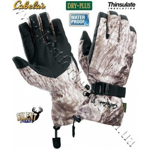 Cabela's Dry-Plus® Silent Suede™ Gloves Seclusion 3D® Open Country® Winter