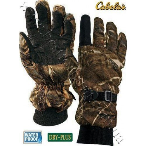 Cabela's Dry-Plus® Thinsulate™ Deluxe Shooting Gloves Realtree MAX-4®
