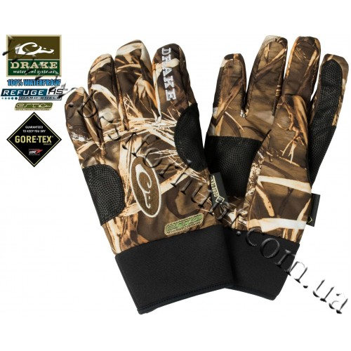 Drake Waterfowl EST Shell-Weight Refuge Waterproof Gore-Tex® Gloves Realtree MAX-4®