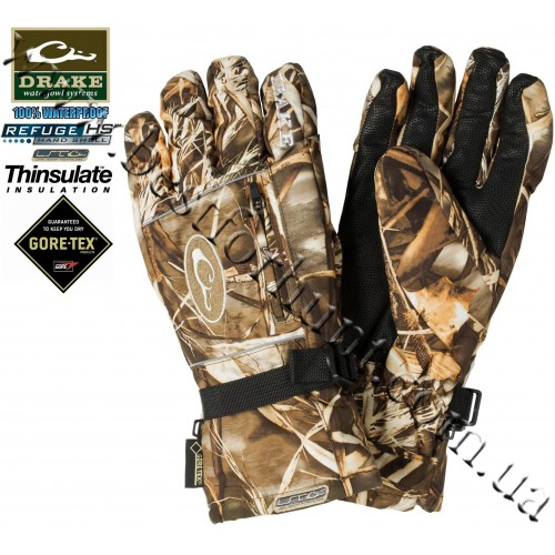 Drake Waterfowl LST Insulated Refuge Waterproof Gore-Tex® Gloves Realtree MAX-4®