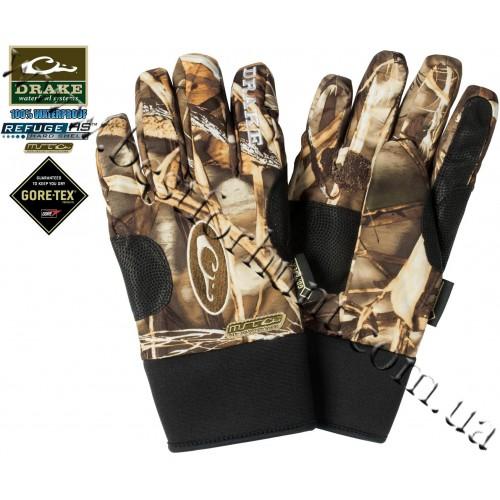 Drake Waterfowl MST Fleece-Lined Refuge Waterproof Gore-Tex® Gloves Realtree MAX-4®